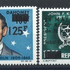 Sellos: DAHOMEY PA N°59/60* (MH) 1967 - JOHN F. KENNEDY. Lote 289773258