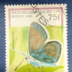 Sellos: BENIN 1996. COMMON BLUE (POLYMMATUS ICARUS) YT:BJ 710Q,. Lote 289990463