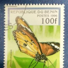 Sellos: BENIN 1996. AFRICAN MONARCH (DANAUS CHRYSIPPUS) YT:BJ 710R,. Lote 289991538