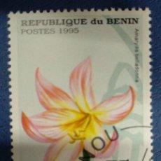 Sellos: BENIN 1995. AMARYLLIS BELLADONNA. YT:BJ 708AW,. Lote 291237423