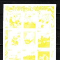 Sellos: BENIN 2008,HOJA BLOQUE PRUEBA DE COLOR SIN DENTAR WALT DISNEY OLIMPIADAS. MNH.. Lote 293350958