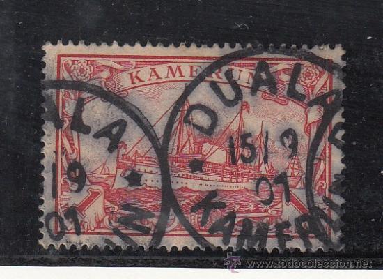 CAMERUN ALEMAN 16 USADA, BARCO (Sellos - Extranjero - África - Camerún)