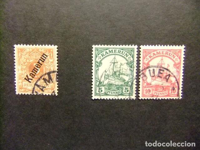 KAMERUN COLONIA ALLEMANDE 1896 - 1900 YVERT N º 1 ºFU + 20 A º+ 21 º FU (Sellos - Extranjero - África - Camerún)