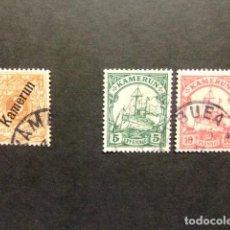 Sellos: KAMERUN COLONIA ALLEMANDE 1896 - 1900 YVERT N º 1 ºFU + 20 A º+ 21 º FU. Lote 68527749
