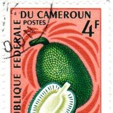 Sellos: 1967 - CAMERUN - FRUTA - ARBOL DEL PAN - YVERT 444. Lote 106706255