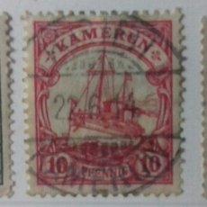 Sellos: SELLOS DE CAMERÚN EL BARCO DEL KÁISER 1905-1918. Lote 126214872