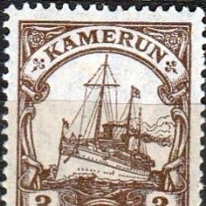 Sellos: 1906 -CAMERUN. BARCO DEL KAISER HOHENZOLLERN .OCUPACION ALEMANA. 1906..P14 1/2. **,MNH(18-143). Lote 133669514
