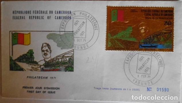 Sellos: SELLO CONMEMORATIVO DE CAMEROUN EN ORO SERIE LIMITADA Y NUMERADA - Foto 3 - 139200938