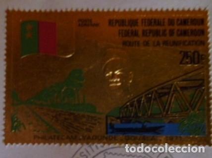 Sellos: SELLO CONMEMORATIVO DE CAMEROUN EN ORO SERIE LIMITADA Y NUMERADA - Foto 2 - 139200938