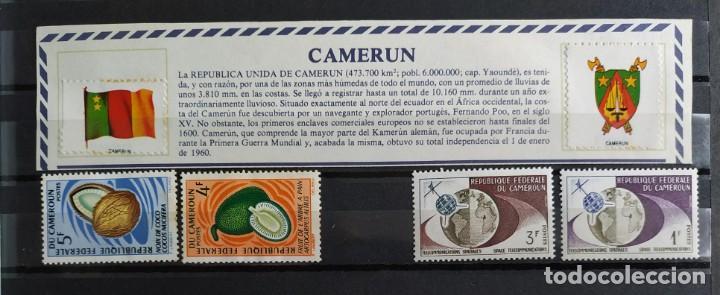 COLECCIÓN DE 4 SELLOS DE CANADÁ CAMERÚN, NUEVOS SIN USAR DE DISTINTOS PERIODOS (Sellos - Extranjero - África - Camerún)
