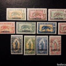 Sellos: CAMERÚN 11 VALORES DE LA SERIE YVERT 84/100. NUEVOS CON CHARNELA, SIN GOMA Y USADOS. SOBRECARGADOS.. Lote 192029663
