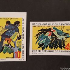 Sellos: CAMERÚN, YVERT 534-35 (*) SIN DENTAR, FAUNA AVES. Lote 194236907