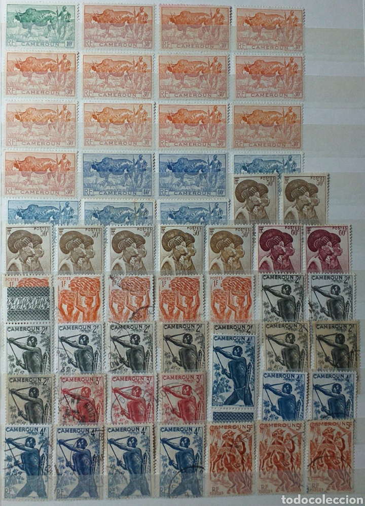 Sellos: Colección de sellos de Camerún en álbum de 8 páginas - Foto 4 - 203408411