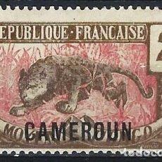 """Selos: CAMERÚN 1921 - SELLO DEL CONGO MEDIO SOBRECARGADO """"CAMEROUN"""", LEOPARDO - MH*. Lote 215107528"""