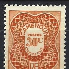 Selos: CAMERÚN 1947 - SELLO TAXA - MH*. Lote 215111328