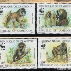 Sellos: CAMERUN SERIE MNH 1988 MICHEL 1155 A 1158 WWF. Lote 215465425