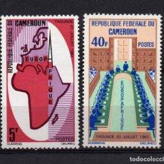 Sellos: CAMERUN 401/02** - AÑO 1965 - 2º ANIVERSARIO DE EUROPAFRICA. Lote 234142045