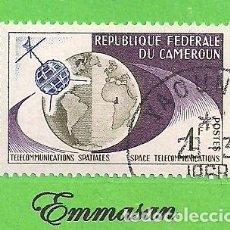 Sellos: CAMERÚN - MICHEL 381 - YVERT 361 - TELECOMUNICACIONES ESPACIALES. (1963). NUEVO MATASELLADO.. Lote 219211606