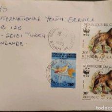 Sellos: O) 1998 CAMERÚN, WWF RABBOONS PAPIO - FONDO MUNDIAL PARA LA VIDA SILVESTRE, ESPECIES AMENAZADAS - PÁ. Lote 236469835