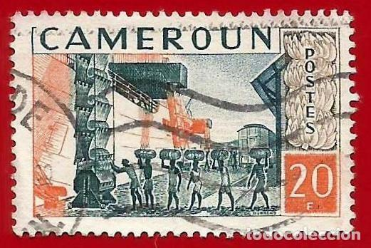 CAMERUN. 1959. CARGANDO BANANAS EN BARCO (Sellos - Extranjero - África - Camerún)
