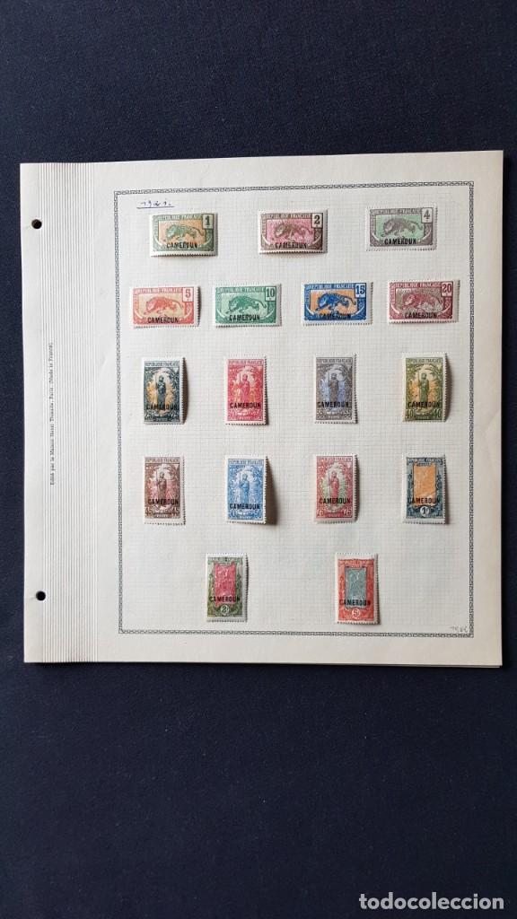 CAMERUN 7 HOJAS SELLOS 1921-1941 MH YVERT 84-162 Y TAXE 1925-1939 YVERT 1-21 +1941 FRANCIA ÁFRICA (Sellos - Extranjero - África - Camerún)