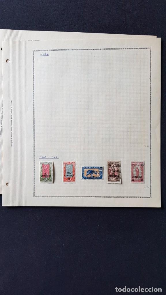 Sellos: CAMERUN 7 HOJAS SELLOS 1921-1941 MH Yvert 84-162 y Taxe 1925-1939 Yvert 1-21 +1941 Francia África - Foto 2 - 236632670
