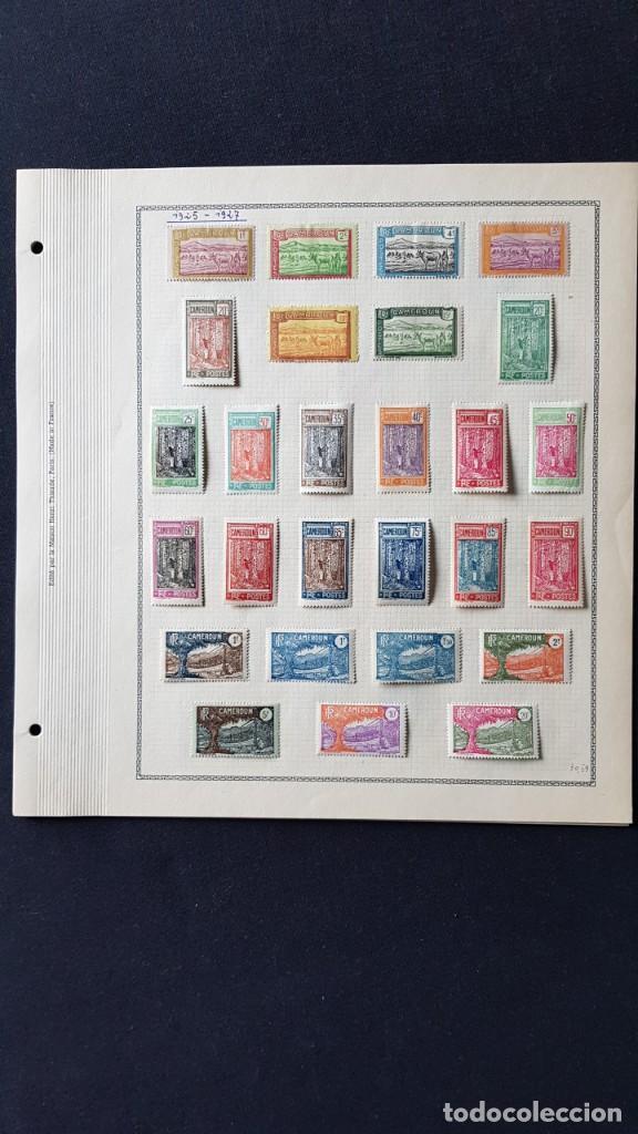 Sellos: CAMERUN 7 HOJAS SELLOS 1921-1941 MH Yvert 84-162 y Taxe 1925-1939 Yvert 1-21 +1941 Francia África - Foto 3 - 236632670