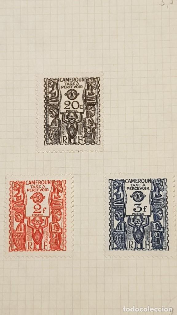 Sellos: CAMERUN 7 HOJAS SELLOS 1921-1941 MH Yvert 84-162 y Taxe 1925-1939 Yvert 1-21 +1941 Francia África - Foto 8 - 236632670