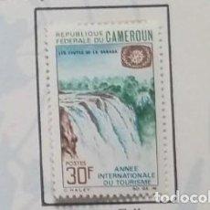 Sellos: O) 1967 CAMERÚN, SANAGA FALLS, CIUDAD, EMITIDA PARA EL AÑO TURÍSTICO INTERNACIONAL, SCT 470, XF. Lote 257859635
