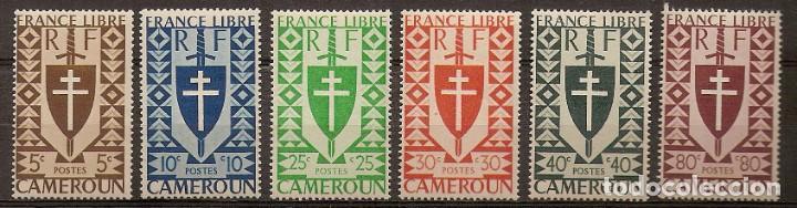 CAMERÚN 1941 - YVERT 249/54 ** (Sellos - Extranjero - África - Camerún)
