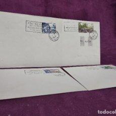 Selos: CAMERÚN, 1961, 4 SOBRES FRANQUEADOS Y CON MATASELLOS, CONMEMORATIVOS DE LA REUNIFICACIÓN,. Lote 287720873