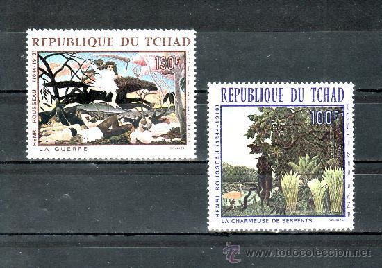 TCHAD A 47/8 SIN CHARNELA, PINTURA DE HENRI ROUSSEAU (Sellos - Extranjero - África - Chad)