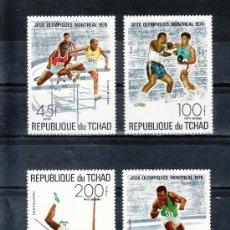 Sellos: TCHAD 312, A 179/81 SIN CHARNELA, DEPORTE, JUEGOS OLIMPICOS DE MONTREAL, . Lote 26226905