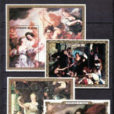 Sellos: TCHAD HB (4 VALORES) SIN CHARNELA, PINTURA DE RUBENS, REYES DE FRANCIA. Lote 24154772