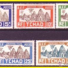 Francobolli: CHAD 1935 IVERT Nº 12 A 16 *. Lote 48887677