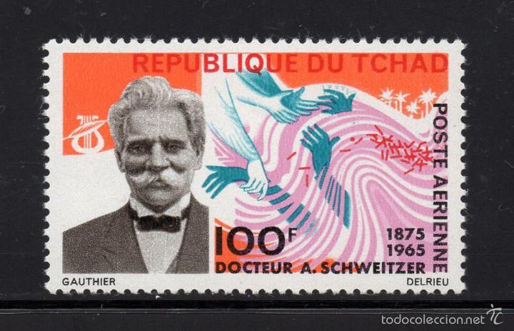 CHAD AÉREO 28** - AÑO 1966 - MUERTE DEL DOCTOR ALBERT SCHWEITZER (Sellos - Extranjero - África - Chad)