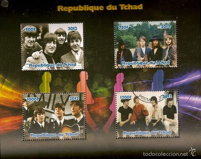 CHADE & LEGENDS OF ROCK, THE BEATLES (6) (Sellos - Extranjero - África - Chad)