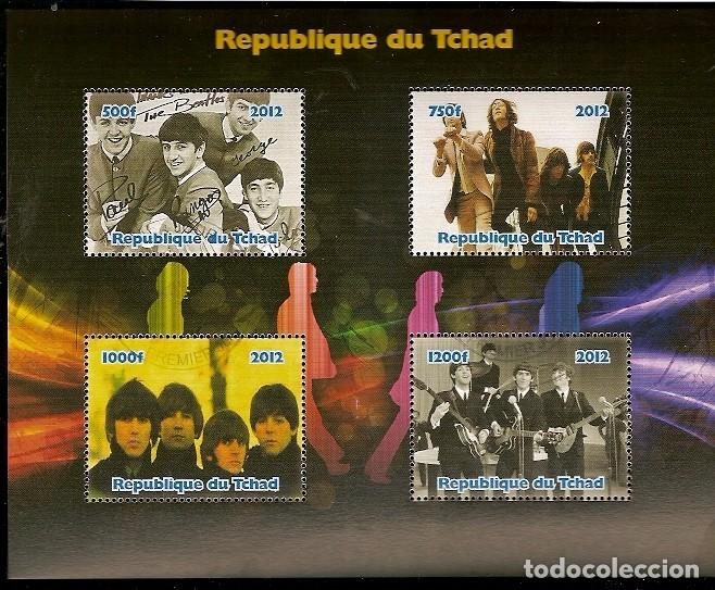 CHAD & LEGENDS OF ROCK, THE BEATLES (7) (Sellos - Extranjero - África - Chad)