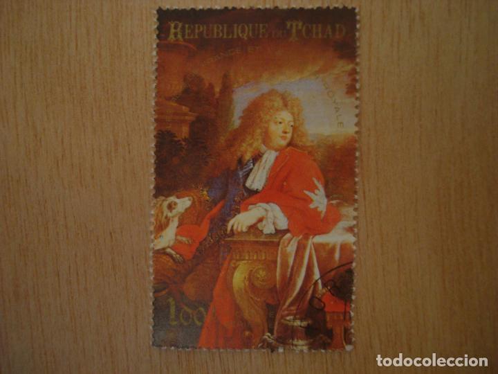Sellos: Pintura + Sello 100 F Republica de Chad Tchad - Reyes Francia - Dauphin de Pierre Mignard / Sellos - Foto 2 - 67371237