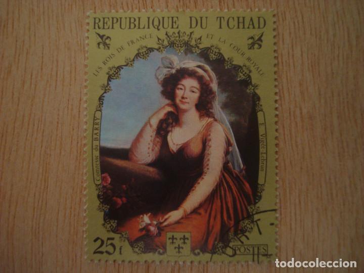 SELLO 25 F - REPUBLICA DE CHAD TCHAD - REYES FRANCIA - VIGÉE LEBRUN - REPUBLIQUE DU / SELLOS (Sellos - Extranjero - África - Chad)