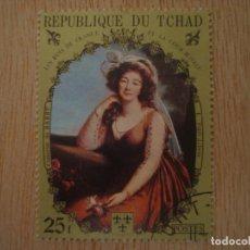 Sellos: SELLO 25 F - REPUBLICA DE CHAD TCHAD - REYES FRANCIA - VIGÉE LEBRUN - REPUBLIQUE DU / SELLOS. Lote 67371917