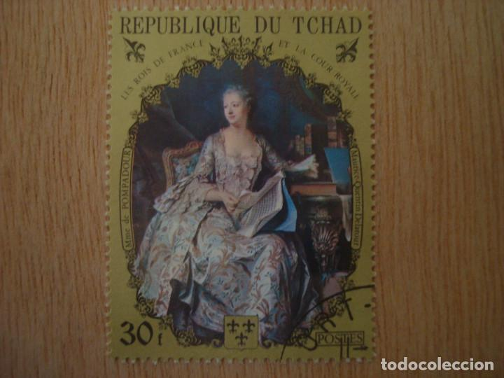 SELLO 30 F - REPUBLICA DE CHAD TCHAD - REYES FRANCIA - MAURICE Q DELAROUR - REPUBLIQUE DU / SELLOS (Sellos - Extranjero - África - Chad)