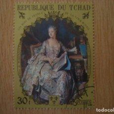 Sellos: SELLO 30 F - REPUBLICA DE CHAD TCHAD - REYES FRANCIA - MAURICE Q DELAROUR - REPUBLIQUE DU / SELLOS. Lote 67372309