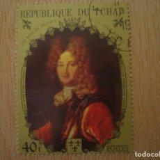 Sellos: SELLO 40 F REPUBLICA DE CHAD TCHAD - REYES FRANCIA - ECOLE FRANÇAISE XVIII - REPUBLIQUE DU / SELLOS. Lote 67372541