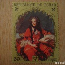 Sellos: SELLO 60 F REPUBLICA DE CHAD TCHAD - REYES FRANCIA - MARIC LESZCZYNSKA J M NATTIER / SELLOS. Lote 67372965