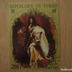 Sellos: SELLO 200 F - REPUBLICA DE CHAD TCHAD - LOUIS XIV - H. RIGAUD - REPUBLIQUE DU / SELLOS. Lote 67373489