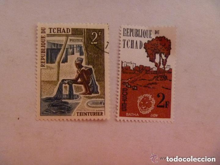 LOTE DE 2 SELLOS DE CHAD : UNO SIN USAR (Sellos - Extranjero - África - Chad)