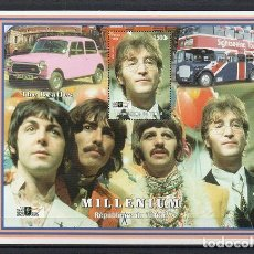Sellos: CHAD 1999, HB THE BEATLES, SC-MNH. Lote 80819883