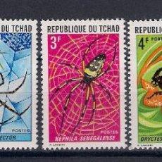 Sellos: INSECTOS DE CHAD. SELLOS AÑO 1972. Lote 87402488