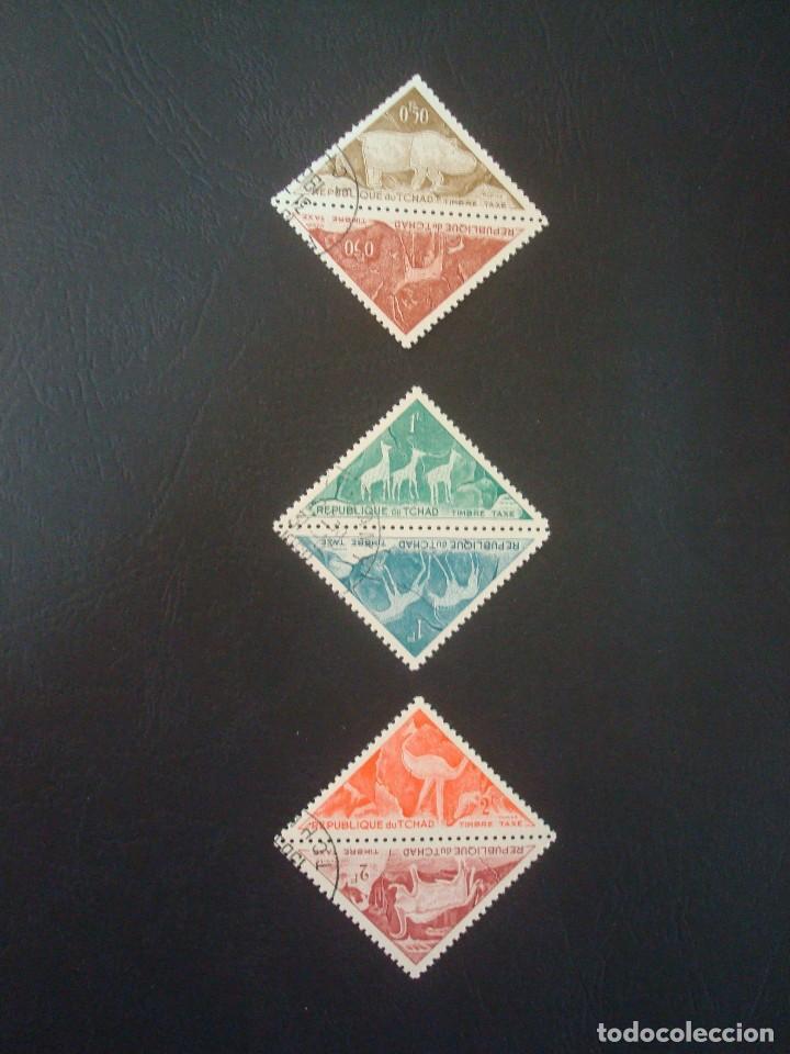 CHAD-LOTE DE 6 SELLOS TRIANGULARES (Sellos - Extranjero - África - Chad)